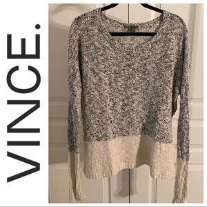 VINCE Oversized Knit Linen Slouchy Summer Sweater